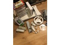 Wii console/wii fit board plus games accessories