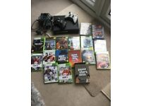 Xbox 360, 2 controllers and 16 Games
