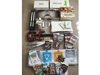 MASSIVE BUNDLE - Wii Console + Wii Fit Board + Dance Mat + Star Wars Lightsabers + Lots More