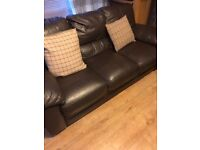 Brown leather sofa great condition