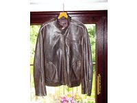 mans casual leather jacket