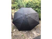 "Large Leeda Fishing Umbrella 50"" - Fishing Brolly Great Condition Black Brolly"