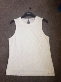 Cream lace top from M&S. 13-14 years. BNWT.