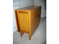 Schreiber solid wood drop-leaf dining table