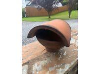 Terracotta hood chimney cowl