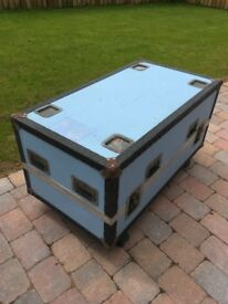 "Road trunk or Flight case 43"" x 23.5"" x 20"" approx."