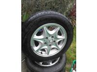 Mercedes Tyres with alloys