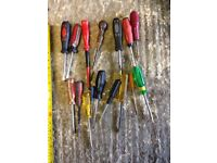 16 straight blade screwdrivers