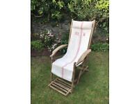 Vintage steamer garden chair