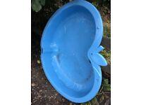 Argos blue apple paddling pool sand pit