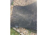 Outdoor safety mats x 4