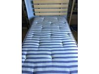 Single bed with integral folding guest bed