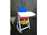 High chair multi coloured
