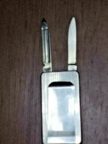 Vintage Imperial Stainless Steel Money Clip, Pocket Knife, Nail File Free S/H