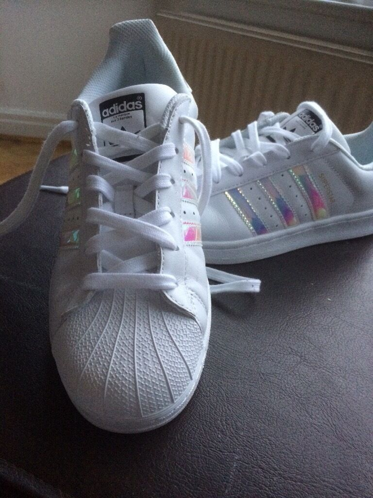 Adidas Superstar ladies trainers size 6,