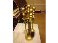 Brass Fireside Set