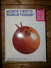 Retro and childrens space hoppers. Xmas. Fun.
