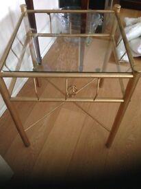 Glass mounted sweet coffee table