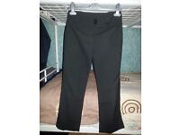 Girl's Black School Trousers, Excellent Condition, Age 9-10