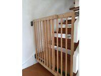 2 wooden stair gates
