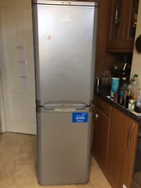 Indesit Fridge Freezer in Silver for sale, good condition.