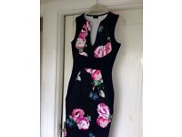 beautiful Navy bodycon wiggle dress UK8/10 wedding, night out