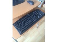 BLACK DELL COMPUTER KEYBOARD WITH DELL MOUSE IN GREAT CONDITION