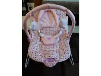 Pink baby bouncer like new