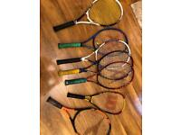 7 racquets tennis and squash