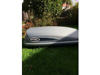 Thule roof bars and large roof box