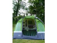 Hi Gear Gobi 4 person tent, with tent carpet and extras