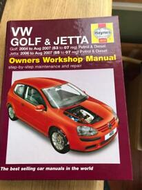 VW Golf Haynes Manual