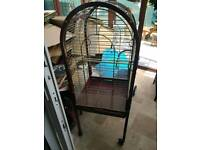Large bird cage. Parrot. Budgie.