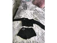 Black dancing/skating outfit