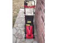 brand new rotary lawn mower 32cm cut metal blade 3 cutting heights large grass collection box