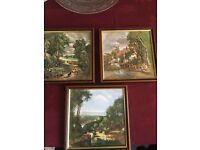 Three Framed Tiles Plate