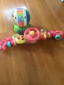 ELC lights and sound buggy drive and leap frog spin and sing alphabet zoo
