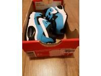 Boys nike size 2.5 trainer bundle blue/white brand new black/white used
