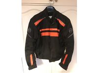 Buffalo motorbike jacket as new black and orange