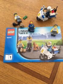 Lego city motorbike set