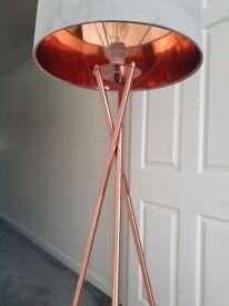Rose gold & grey standing lamp - £30