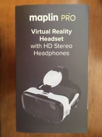 Maplin Pro VR Headset with HD Stereo Headphones, unused, undamaged box