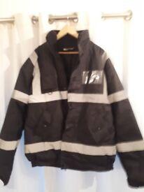 XXXL Black Hi-Vis Security / Site Jacket. Brand New.