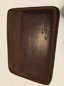 Saddleback Leather Front Pocket ID Wallet in Tobacco colour - Genuine