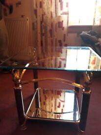 swan design mirrored coffee table