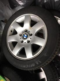 "BMW 16"" alloy wheels and excellent tyres"