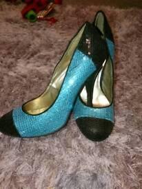 Sequin heels size 5