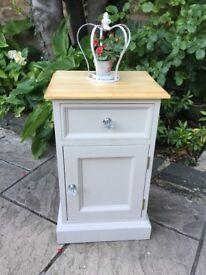 Country Chic Solid Pine Bedside Cabinet