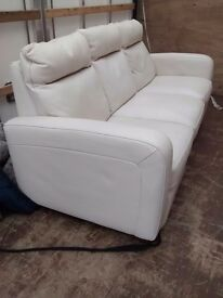 Italsofa Italian leather recliner sofa/ settee