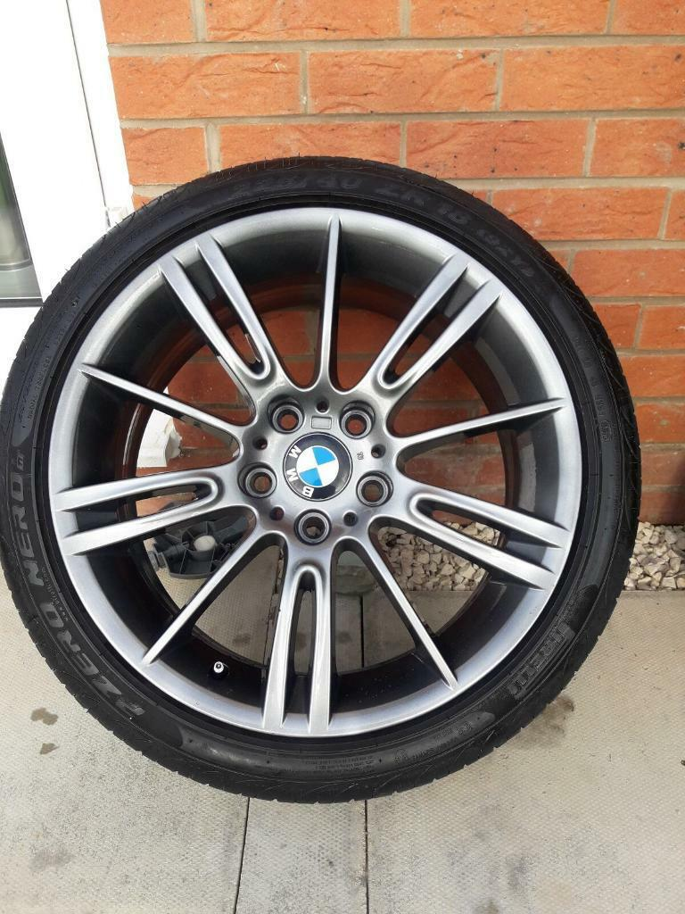 BMW MV3 staggered alloy wheels with tyres